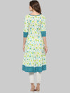Multicolour Printed Cotton Anarkali Kurti | Znx4ever.com