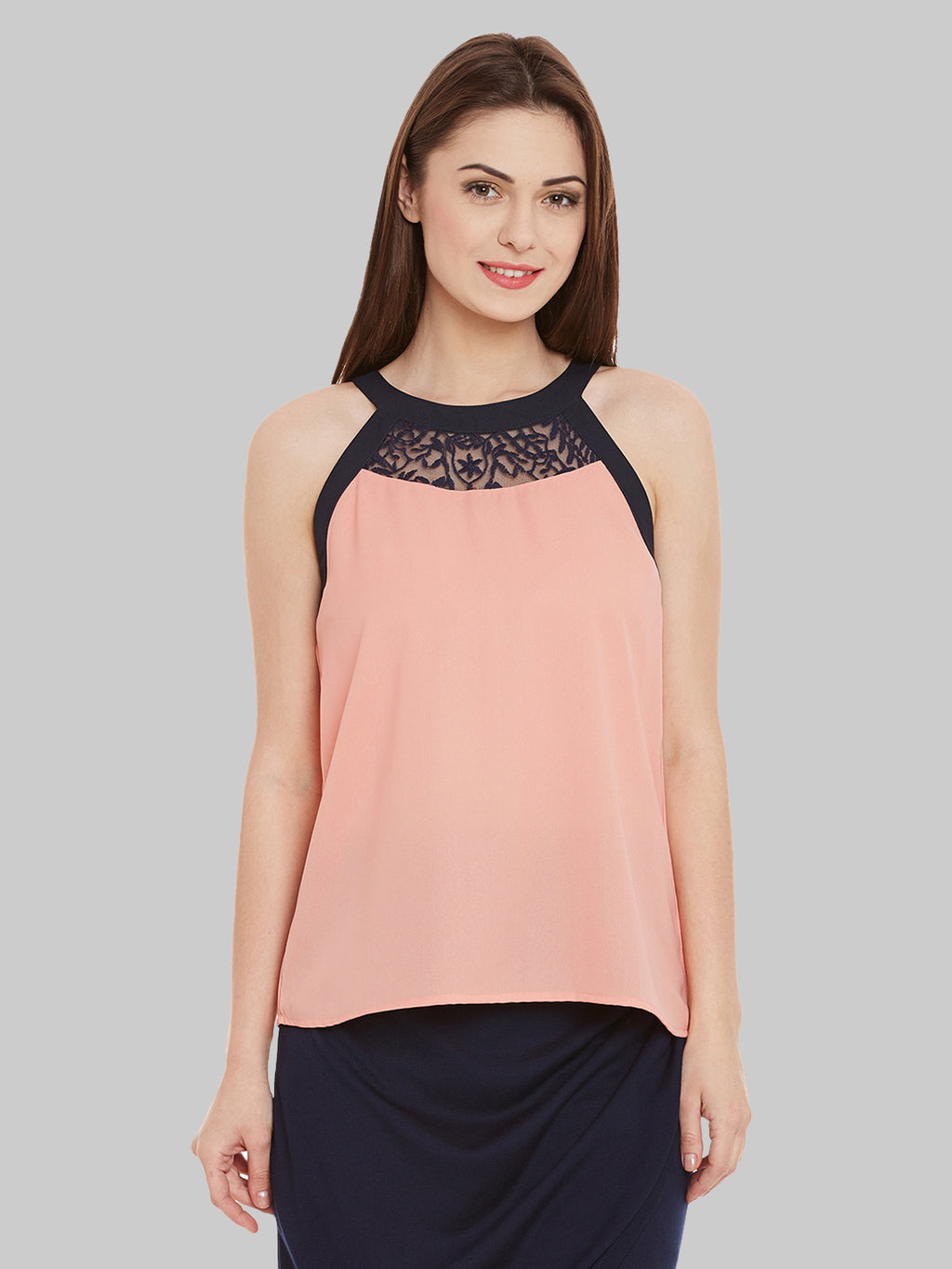 Contrast Lace Top | Znx4ever.com