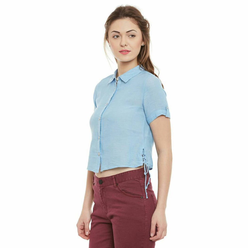 Sky Blue Regular Sleeve TOP | Znx4ever.com