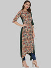 Multicolor Printed Crepe Asymmetric Kurti | Znx4ever.com