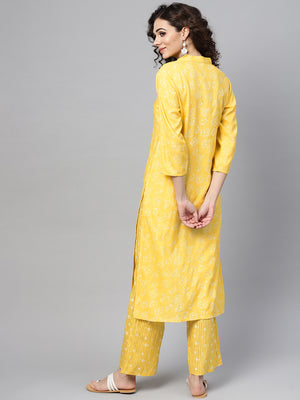 Yellow Printed Kurta Set (Fully Stitched) | Znx4ever.com