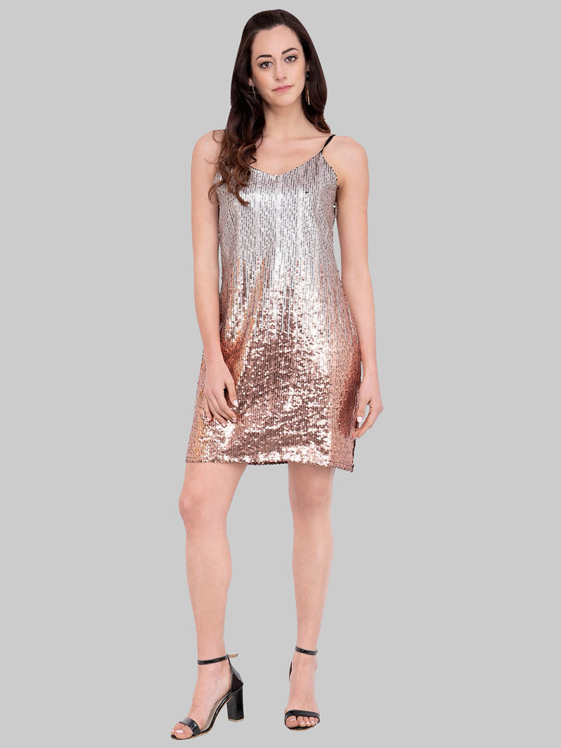 Sequined Sheath Cami Dress | Znx4ever.com