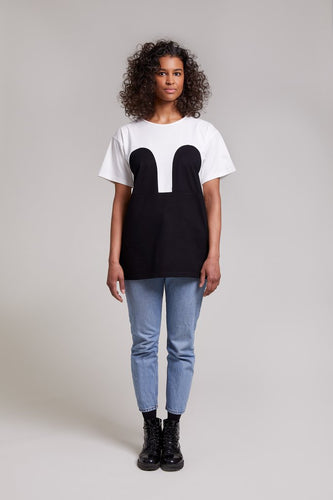 Mickey Loose Tee White/Black