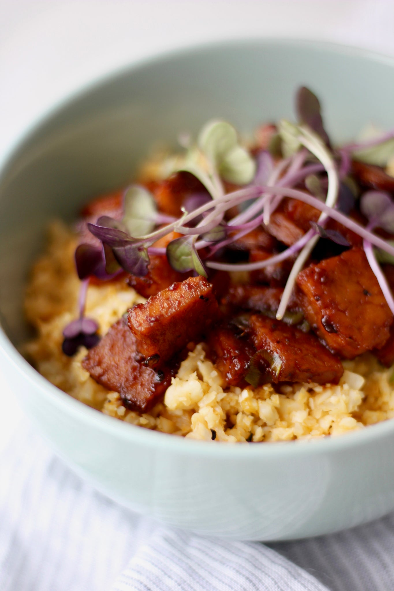 Smokey Tempeh + Cauli Rice Bowl