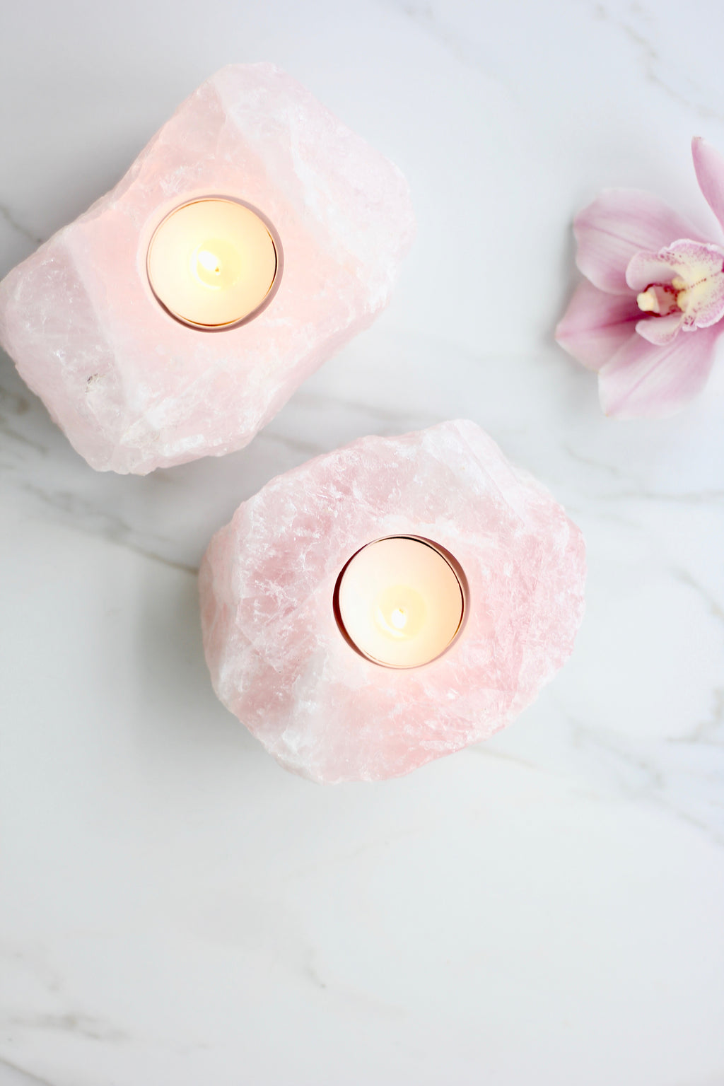 TM Rose Quartz Tealight Holder