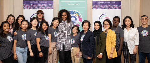 Olie Body and Michelle Obama - Girls Opportunity Alliance