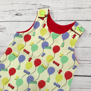 1st Birthday Balloon Romper