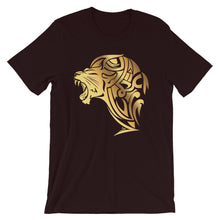 Load image into Gallery viewer, Short-Sleeve UnFazed Gold Lion T-Shirt - Black - Unfazed Tees