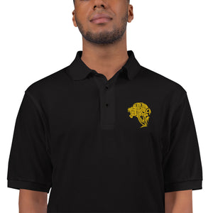 Men's UnFazed Lion Premium Polo - Black - Unfazed Tees