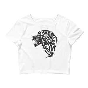 Women's Crop Tee - White - Unfazed Tees