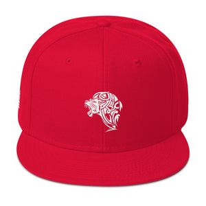 Lion Red Snapback Hat - Unfazed Tees