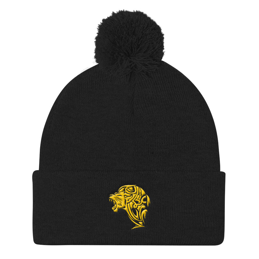 Lion Pom Pom Knit Cap - Unfazed Tees