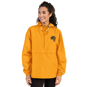 Women's Embroidered Champion Packable Jacket - Gold - Unfazed Tees