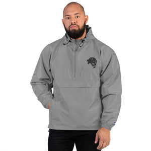 Embroidered Champion Packable Jacket - Graphite - Unfazed Tees