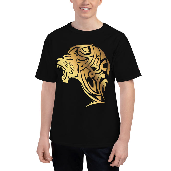 Men's Champion Lion T-Shirt - Black - Unfazed Tees