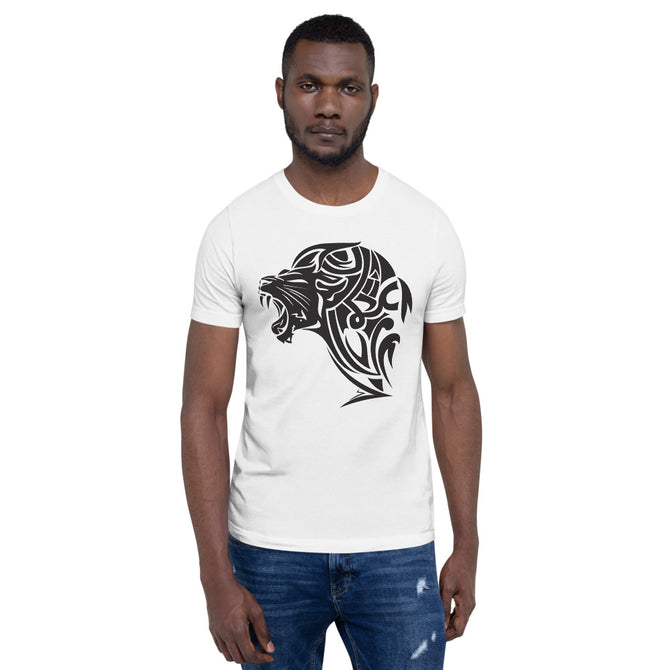 Short-Sleeve UnFazed Lion T-Shirt - White - Unfazed Tees