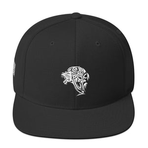 Embroidered White Lion Snapback Hat - Unfazed Tees