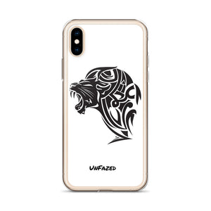 iPhone X/XS UnFazed Lion Case White - Unfazed Tees