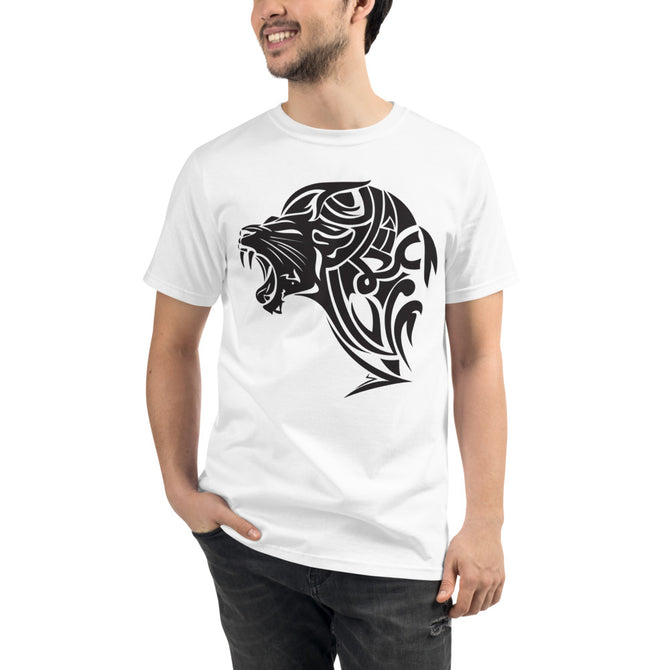 Organic UnFazed Lion T-Shirt - White - Unfazed Tees