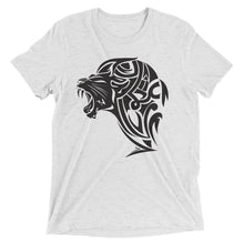 Load image into Gallery viewer, Short sleeve tri-blend Lion t-shirt - White - Unfazed Tees