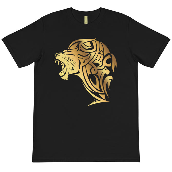 Organic UnFazed Lion T-Shirt - Black - Unfazed Tees