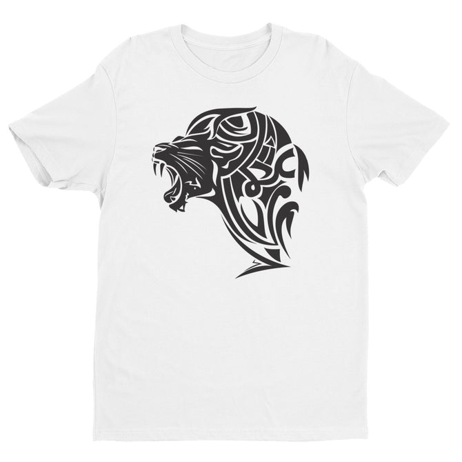 Short Sleeve Fitted Lion T-shirt - White - Unfazed Tees