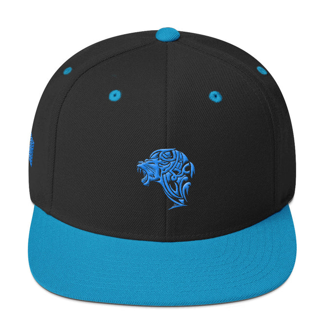 Black Aqua Snapback Lion Hat - Unfazed Tees