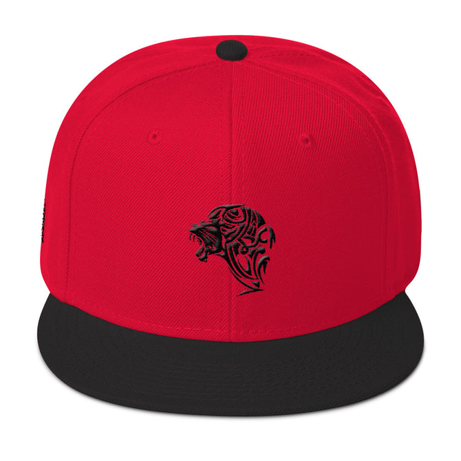 Lion Red & Black Snapback Hat - Unfazed Tees