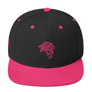 Black Flamingo Pink Snapback Lion Hat - Unfazed Tees