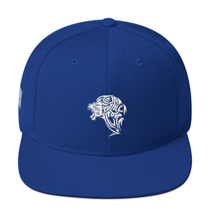 Embroidered Lion Snapback Hat - Unfazed Tees