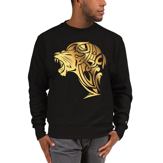 Champion Golden Lion Sweatshirt -  Black - Unfazed Tees