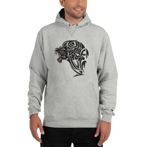 Champion Lion Hoodie - Light Steel - Unfazed Tees