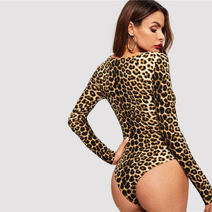 Leopard Jane Bodysuit - Animal Print - Unfazed Tees