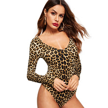 Load image into Gallery viewer, Leopard Jane Bodysuit - Animal Print - Unfazed Tees