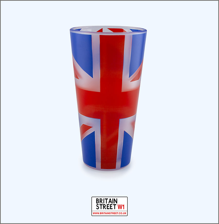 Handmade Union Jack Pint Glass - Britain Street