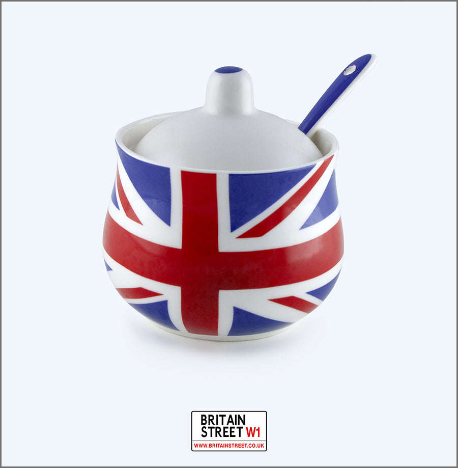 Handmade Union Jack Sugar Pot & Spoon - Britain Street