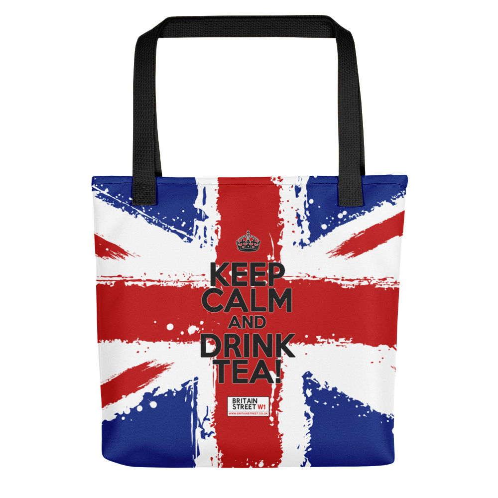 'Keep Calm and Drink Tea!' Tote bag (Design 01) - Britain Street