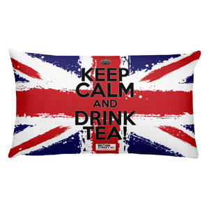 'Keep Calm and Drink Tea!' Throw Pillow (Design 01) - Britain Street