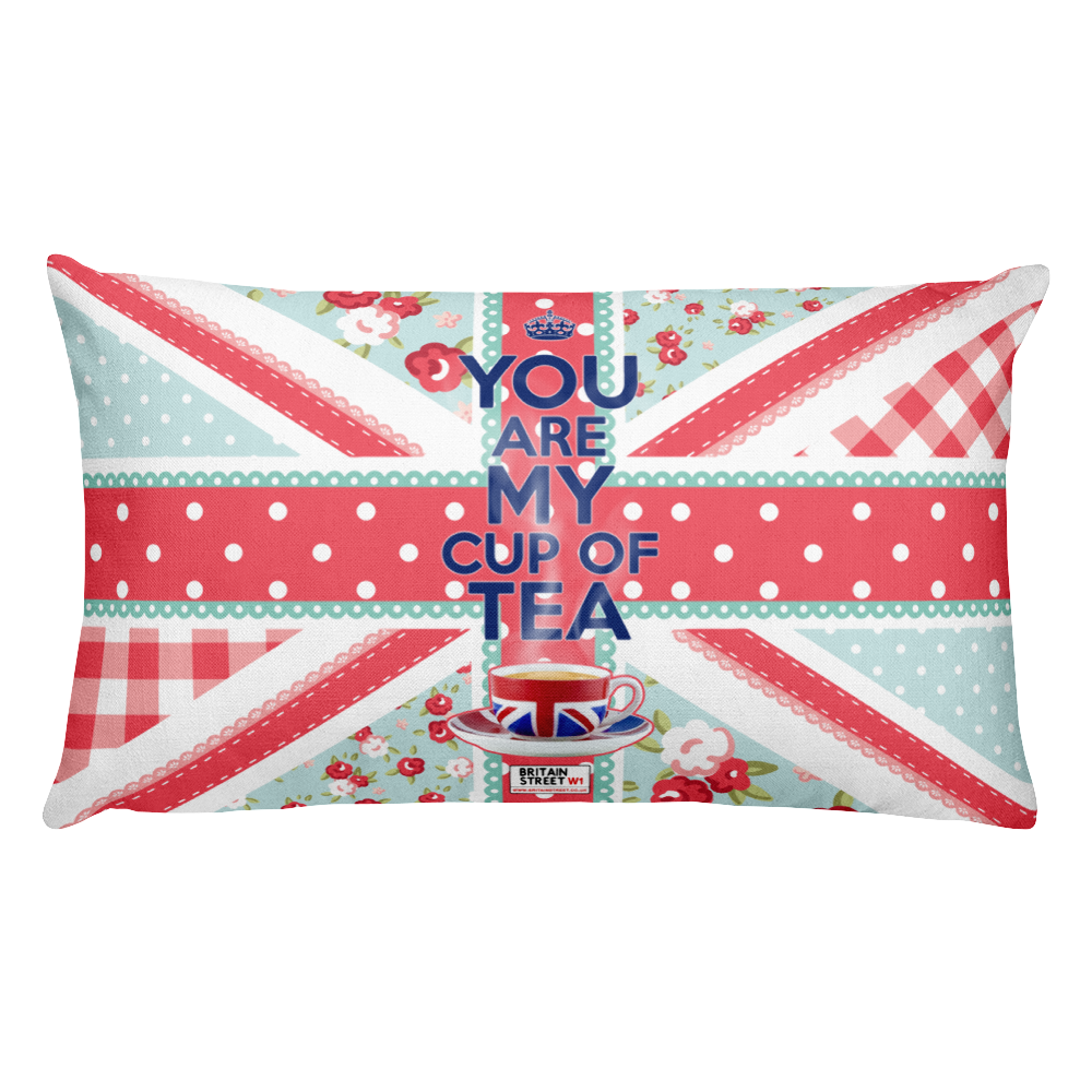 'You Are My Cup of Tea' Throw Pillow - Britain Street