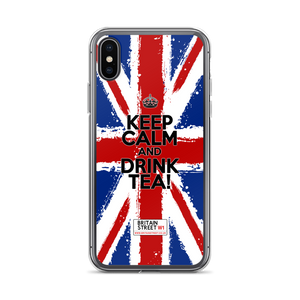 'Keep Calm and Drink Tea!' iPhone Case (Design 01) - Britain Street