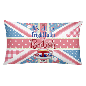 'It's All So Frightfully British' Throw Pillow - Britain Street