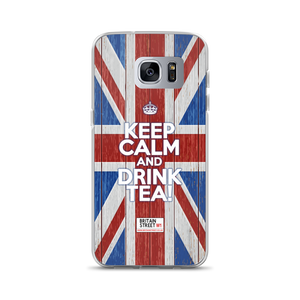 'Keep Calm and Drink Tea!' Samsung Case (Design 02) - Britain Street