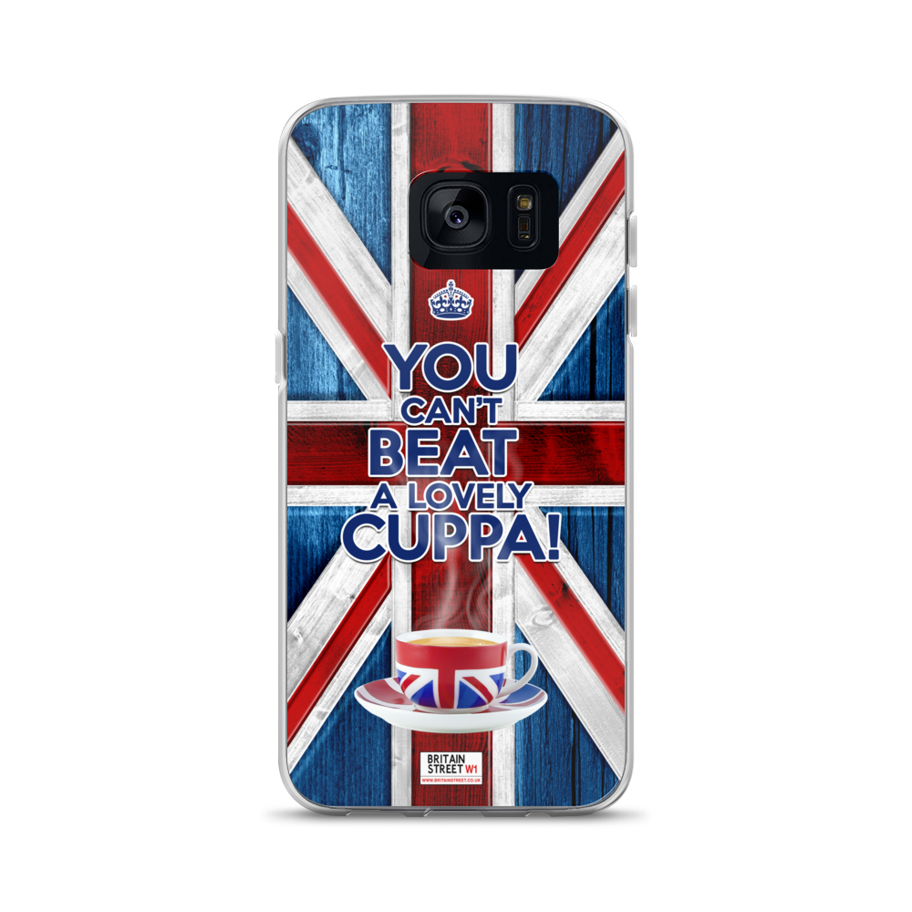 'You Can't Beat a Lovely Cuppa!' Samsung Case - Britain Street