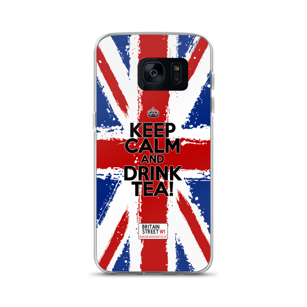 'Keep Calm and Drink Tea!'  Samsung Case (Design 01) - Britain Street