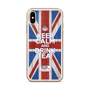 'Keep Calm And Drink Tea!' iPhone Case (Design 02) - Britain Street