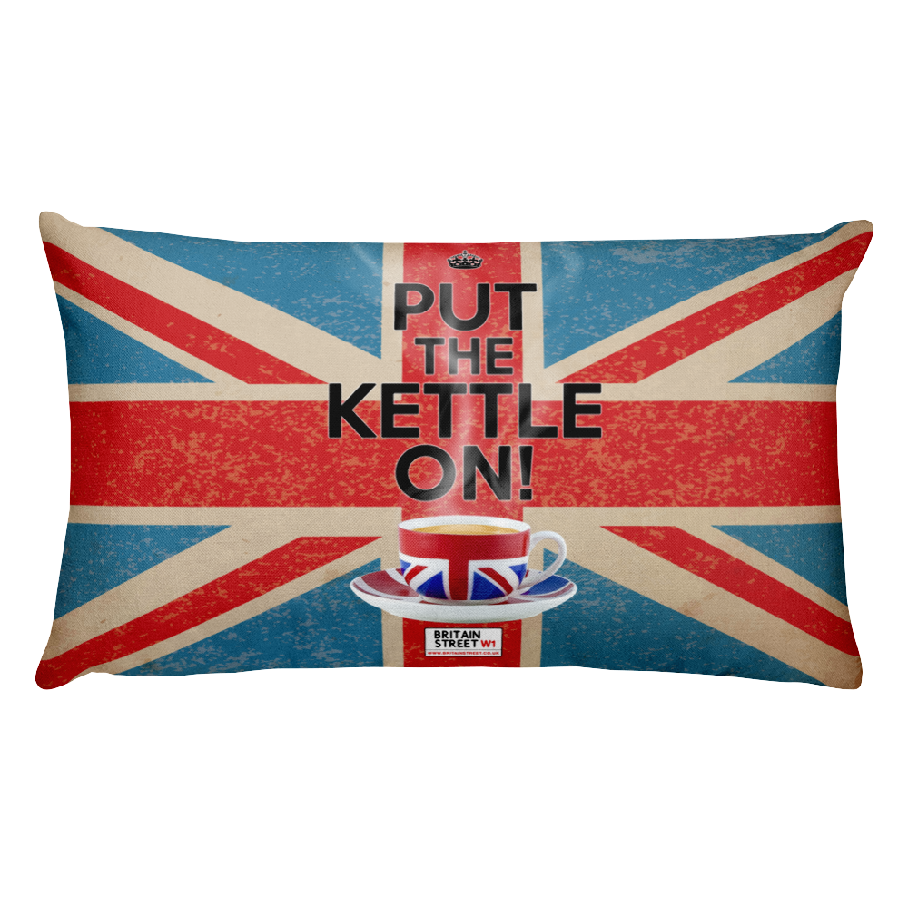 'Put The Kettle On!' Throw Pillow - Britain Street