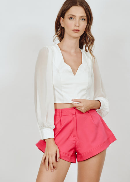 AUDELIA PINK CROP TOP