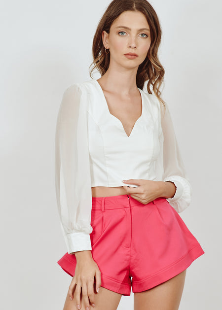 WENDY ONE-SHOULDER SATIN TOP