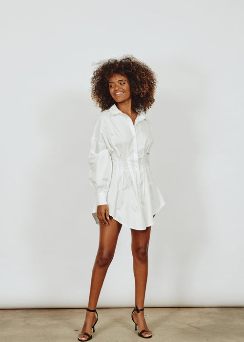 SHARON SHIRT WAIST MINI DRESS