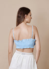 SASKIA BLUE CROPPED TOP
